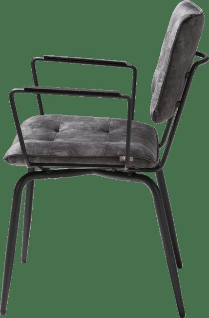 Henders & Hazel - Manou - Industrie - armlehnstuhl - off black - stoff karese