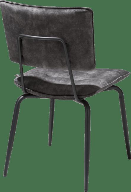 H&H - Manou - Industriel - chaise - off black - tissu karese