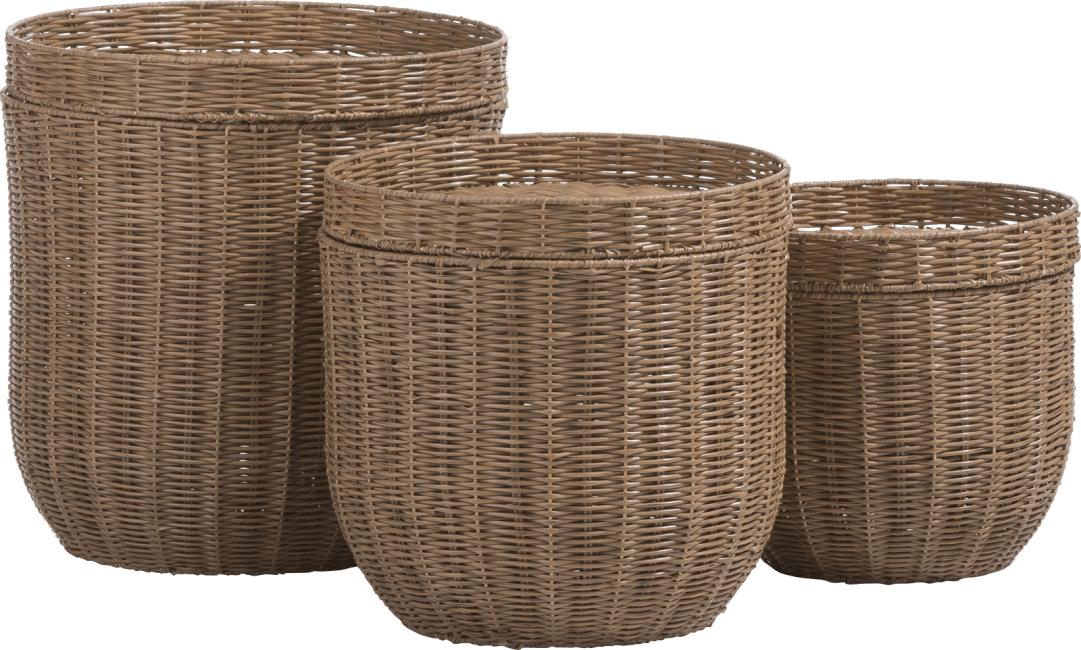 XOOON - Coco Maison - tao set of 3 side tables h47-40-32cm