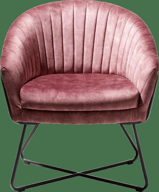 Henders and Hazel - Cayenne - Industrieel - fauteuil met metalen frame recht