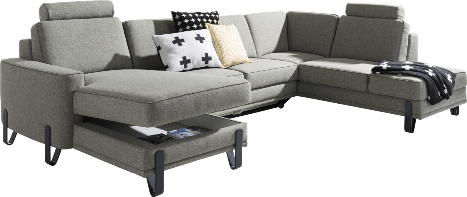 XOOON - Denver - Minimalistisches Design - Sofas - longchair links