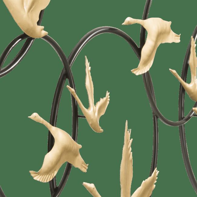Happy@Home - Coco Maison - stork 3d wandobject 120x57cm