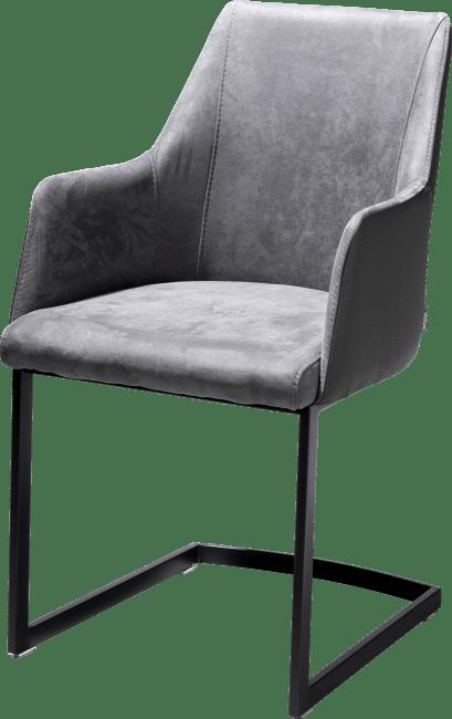 XOOON - Giuliette - Design minimaliste - fauteuil noir (rob) - combinaison kibo/tatra