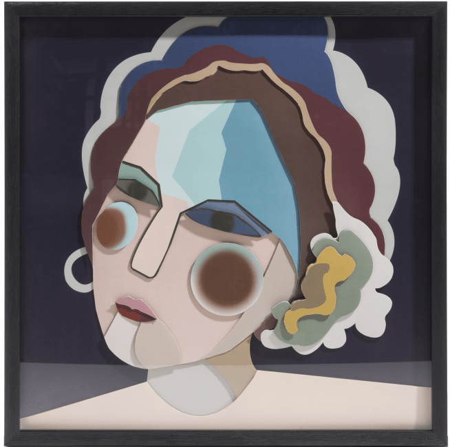 Happy@Home - Coco Maison - madame 3d wandobject 60x60cm