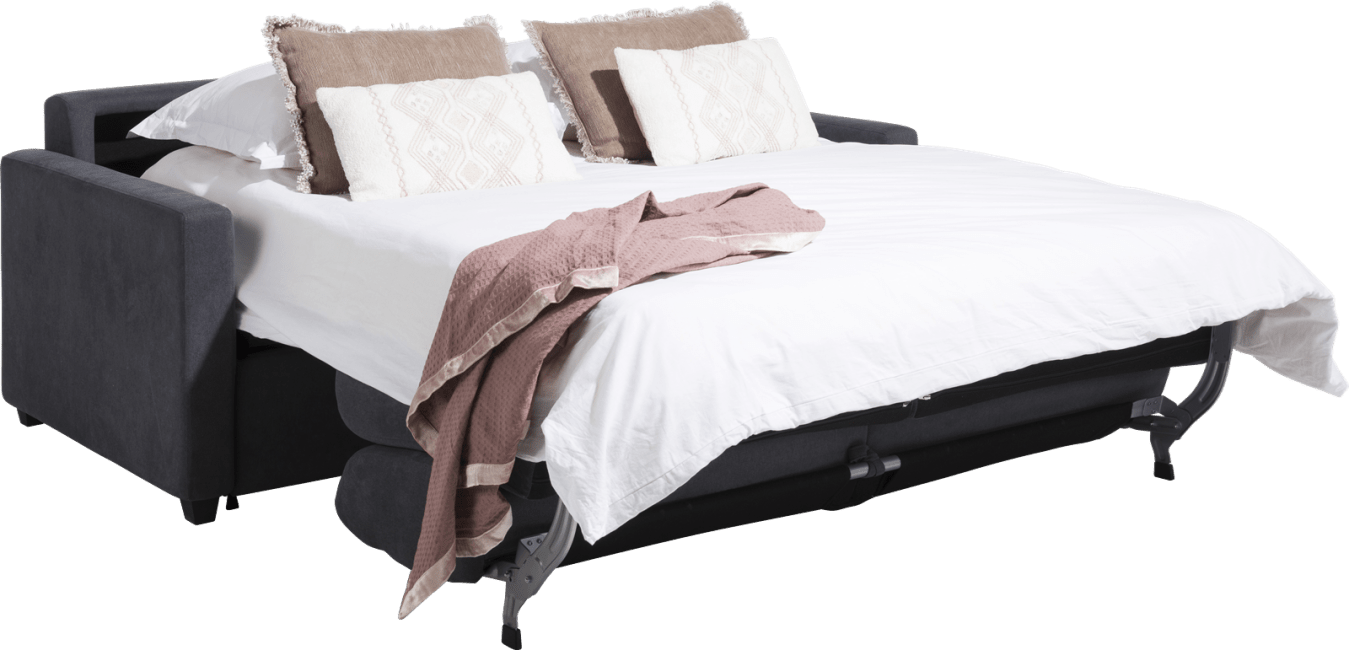 H&H - New York - Canapés - canape lit 160 x 190 cm - tissu sari - matelas de base