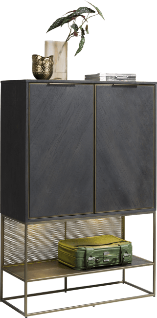 Henders & Hazel - City - Industrie - highboard 100 cm. - 2-tueren + 1-nische (+ led)