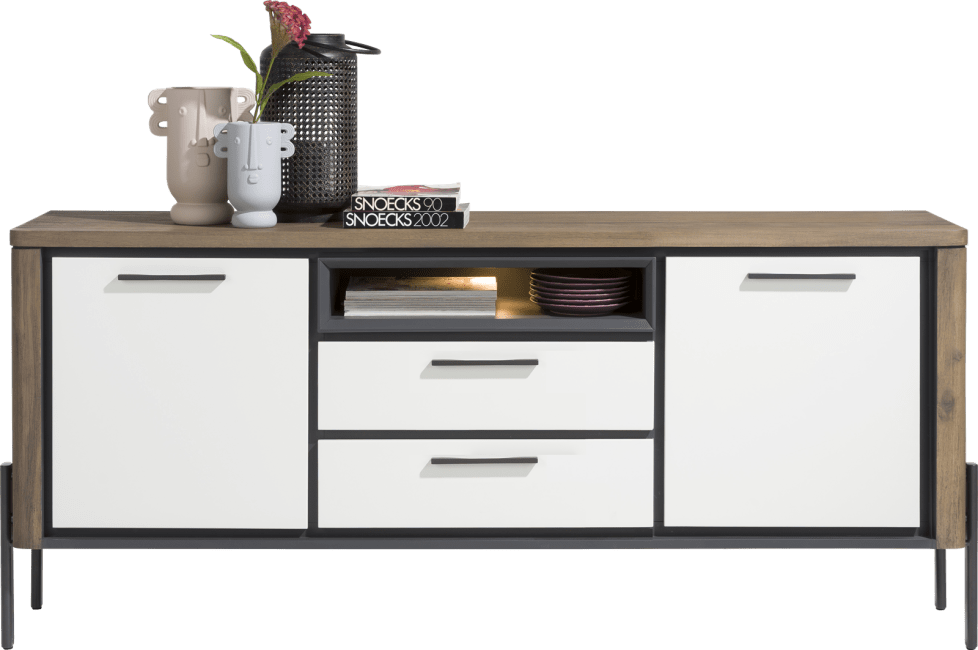 Henders and Hazel - Shirley - Modern - sideboard 180 cm - 2-tueren + 2-laden + 1-nische (+ led)