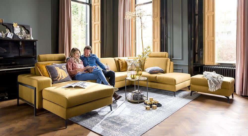 Henders & Hazel - Napels - Sofas - Longchair links - 2,5 Sitzer ohne Armlehne - ottomane rechts