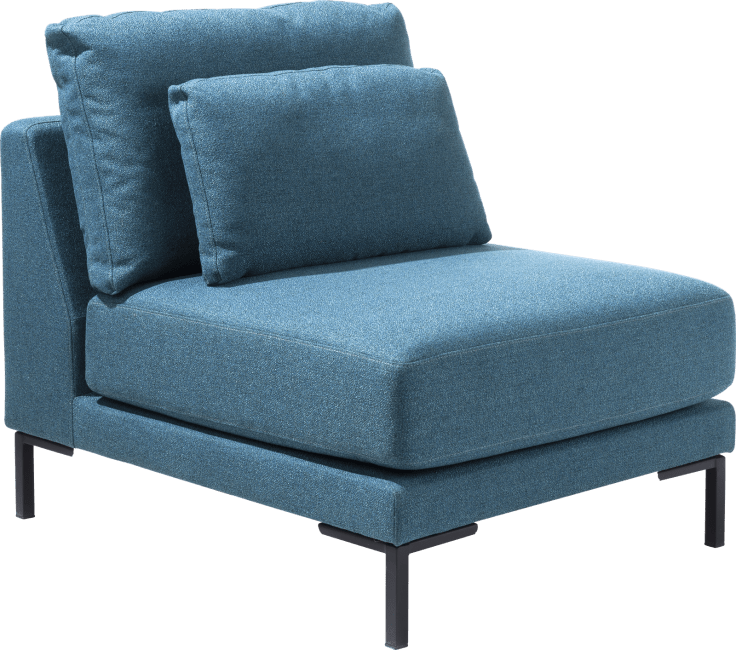 XOOON - Toledos - Design minimaliste - Toutes les canapés - 1-places xl sans accoudoirs - 90 cm