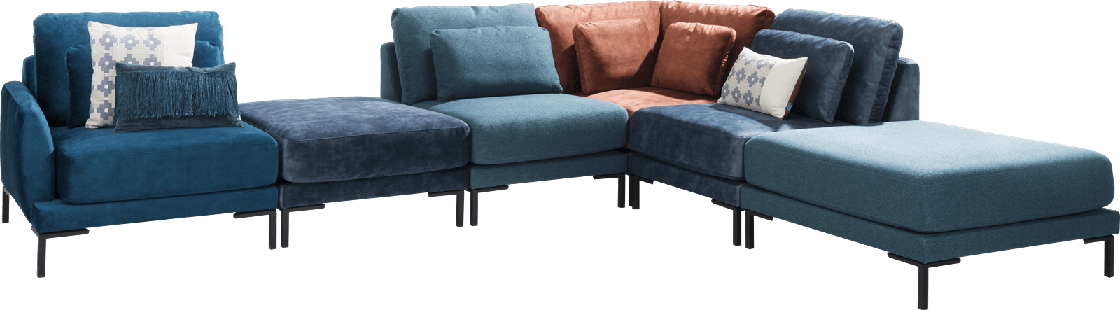 XOOON - Toledos - Design minimaliste - 1-places accoudoir gauche - 80 cm