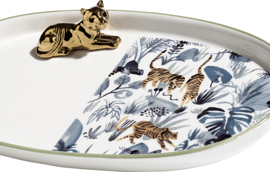 XOOON - Coco Maison - tiger lilly tray 34x20cm
