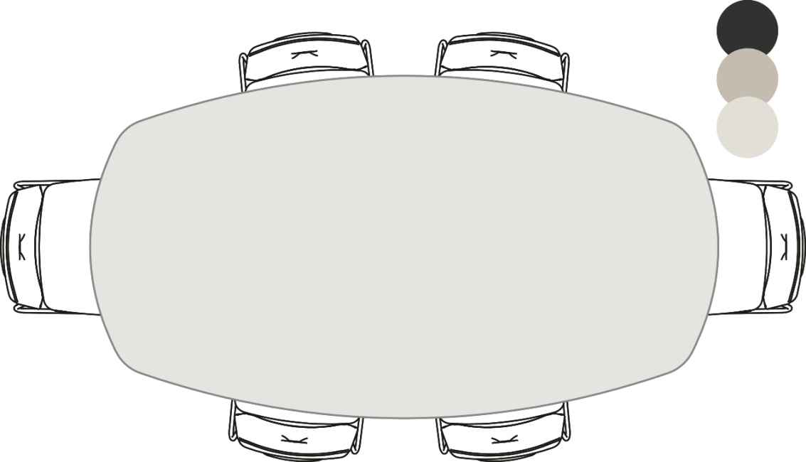 XOOON - Sunday - Scandinavisch design - eetkamertafel - ovaal - 220 x 120 cm