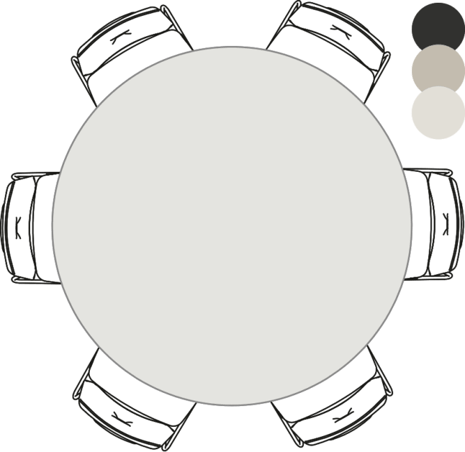 XOOON - Sunday - Scandinavisch design - eetkamertafel - rond - 150 cm