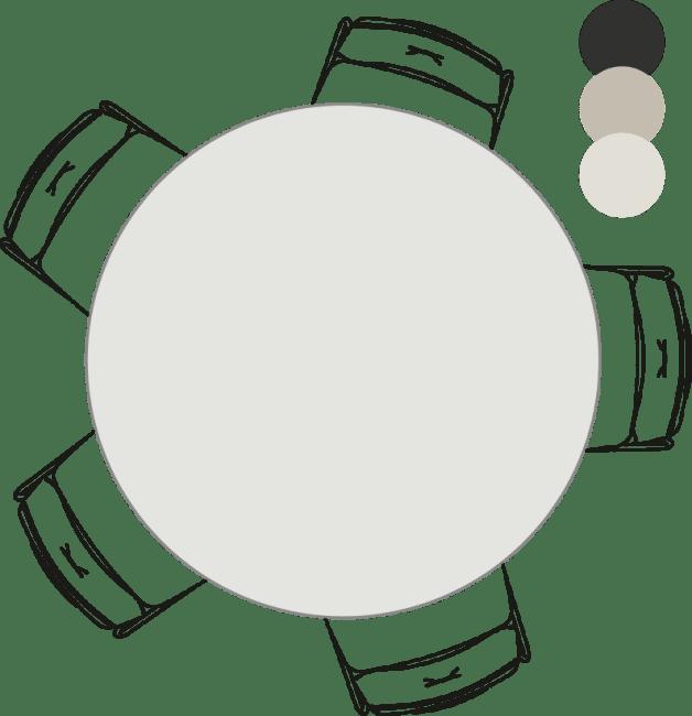 XOOON - Sunday - Scandinavisch design - eetkamertafel - rond - 130 cm