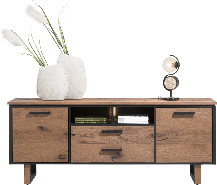 Henders and Hazel - Oxford - Natuerlich - sideboard 230 cm. - 2-tueren + 2-laden + 2-nischen (+led)