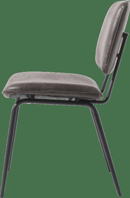 XOOON - Novali - Design minimaliste - chaise - cadre off black - tissu secilia