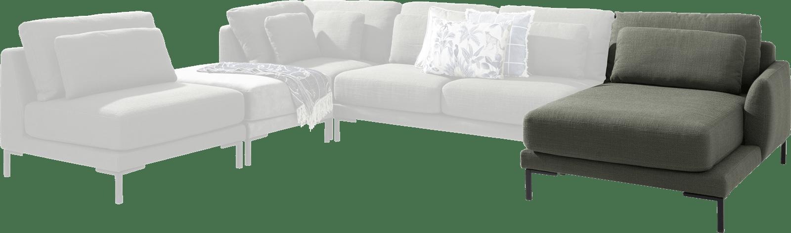XOOON - Toledos - Design minimaliste - Toutes les canapés - meridienne droite