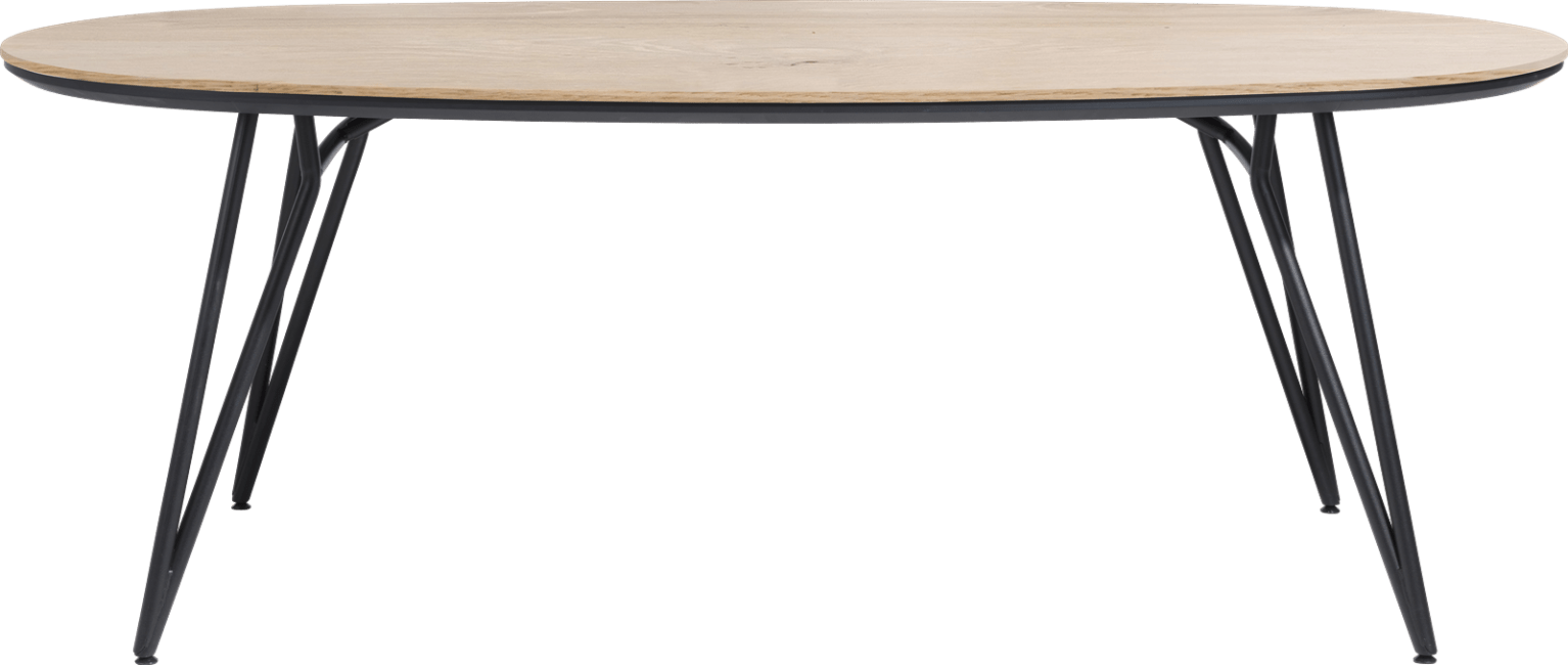 XOOON - Vik - Scandinavisch design - eetkamertafel ovaal 220 x 120 cm