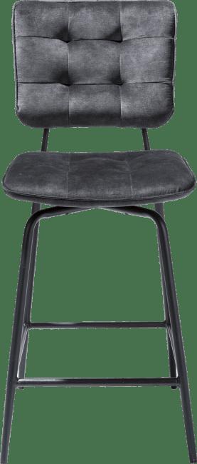 Henders & Hazel - Manou - Industrie - tresenstuhl - off black - stoff karese