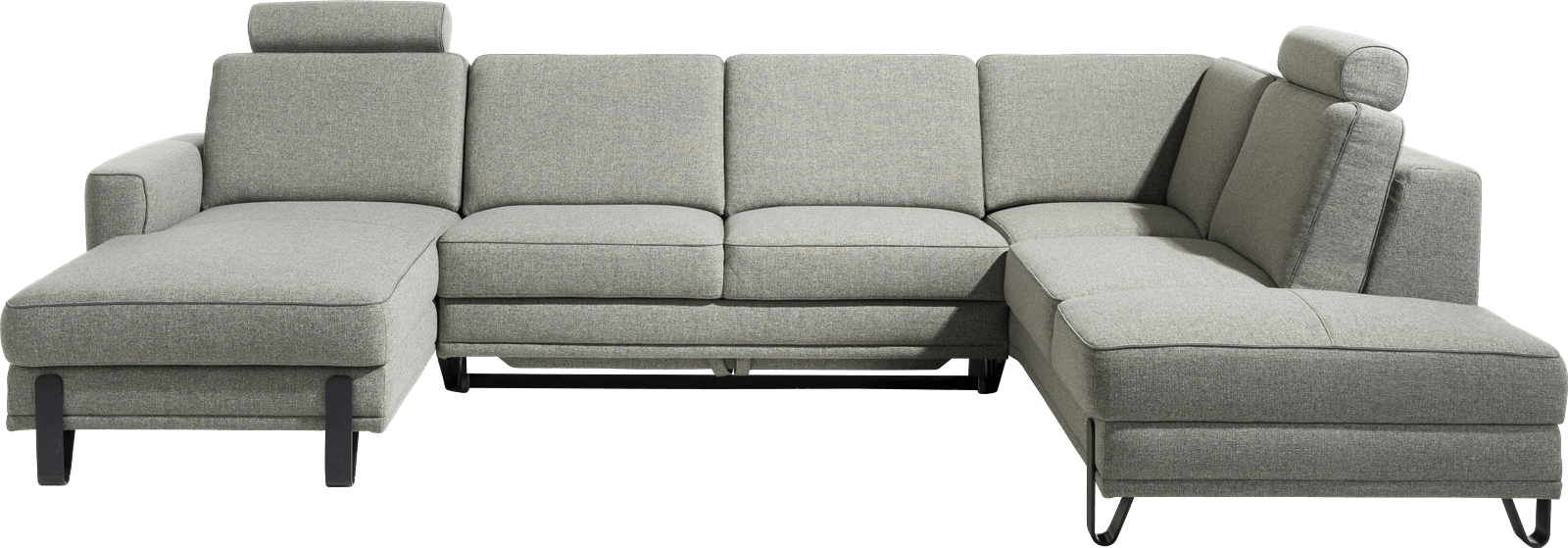XOOON - Denver - Sofas - Longchair links - 2,5 Sitzer - Ottomane rechts