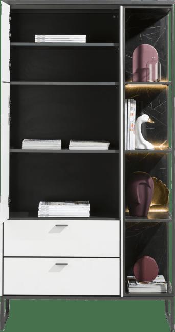 XOOON - Bogota - Minimalistisches Design - schrank 100 cm - 2-tueren + 2-laden + 4-nischen (+ led)