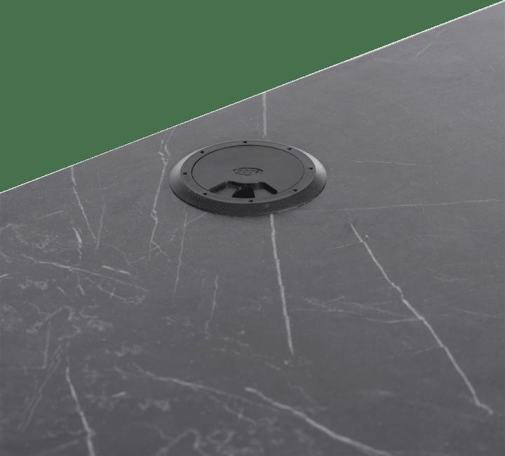 XOOON - Bogota - Minimalistisches Design - tv-schrank 240 cm - 2-laden + 1-klappe + 1-nische (+ led)