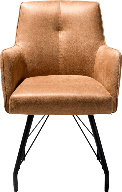 XOOON - Bodil - Industriel - fauteuil avec ressorts ensaches - tissu rocky