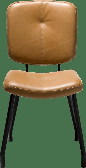 Henders & Hazel - Jaguar - Natuerlich - stuhl mit schwarzen fuessen - leder peru