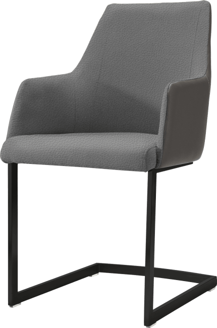XOOON - Giuliano - Design minimaliste - fauteuil noir (rob)