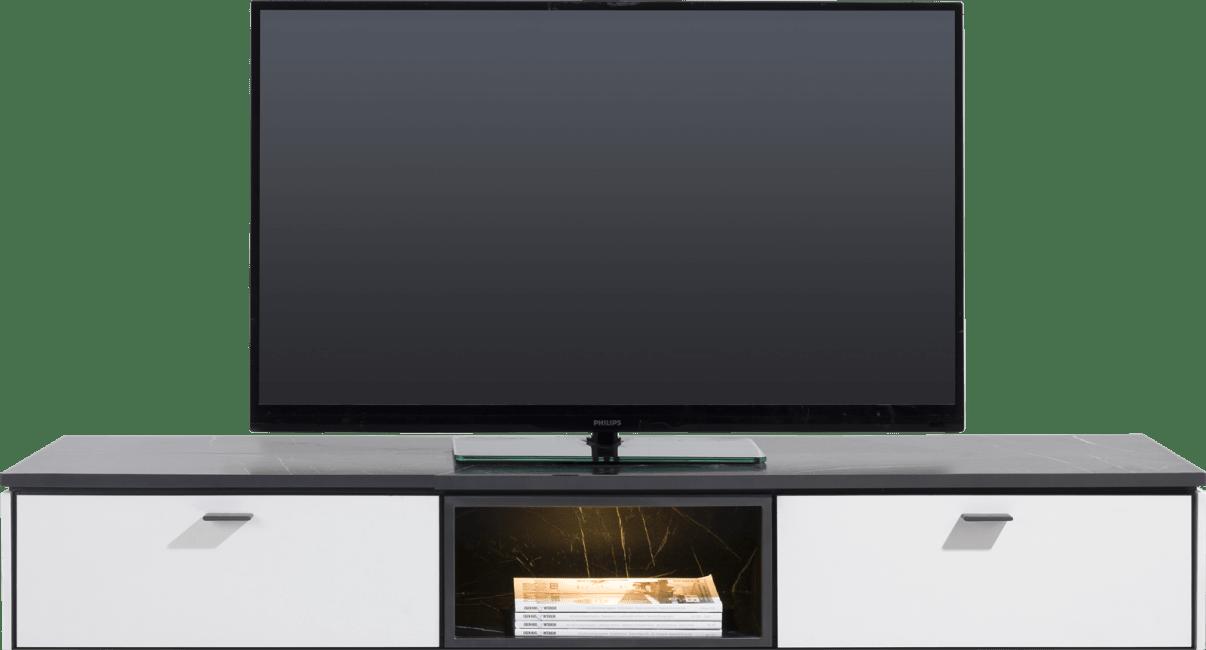 XOOON - Bogota - Minimalistisches Design - tv-schrank 170 cm - 1-lade + 1-klappe + 2-nischen (+ led)