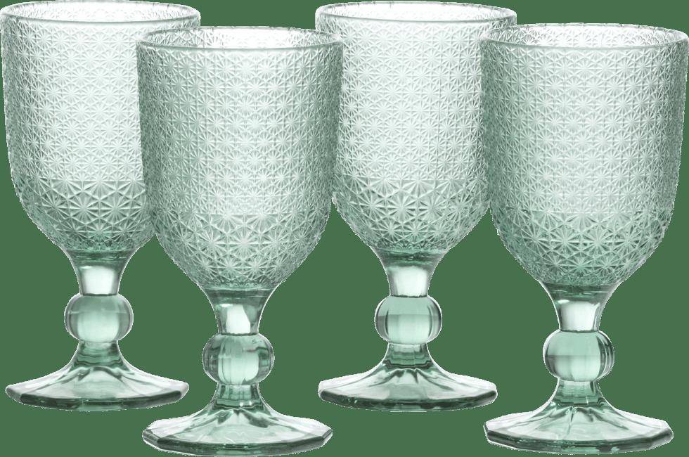 XOOON - Coco Maison - amalfi set of 4 glasses h17cm