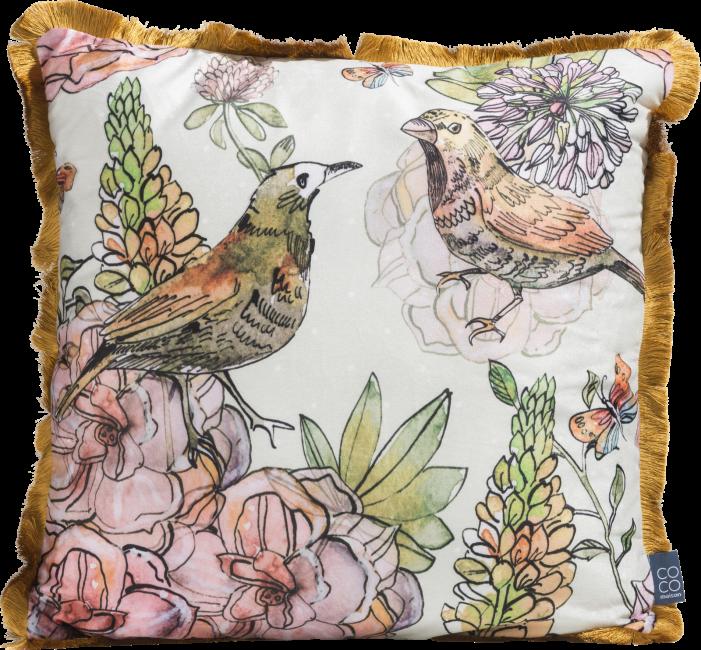 XOOON - Coco Maison - birds cushion 45x45cm