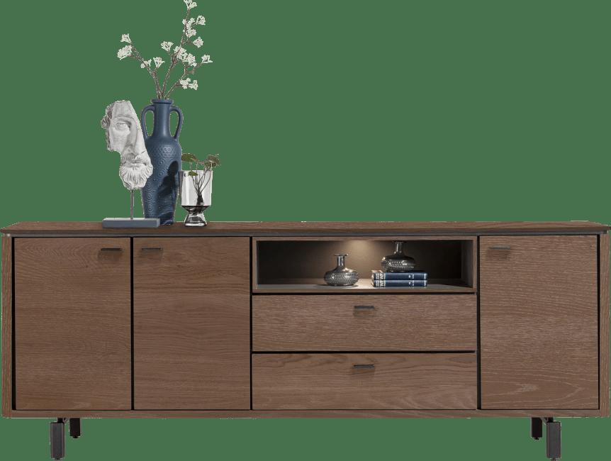 Henders & Hazel - Livada - Modern - sideboard 210 cm. - 3-tueren + 2-laden + 1-nische