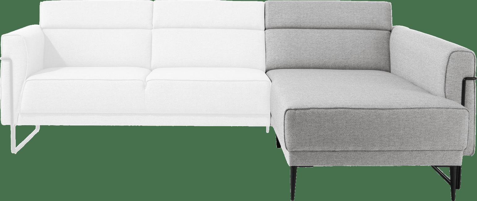 XOOON - Fiskardo - Scandinavisch design - Banken - longchair met lange arm - rechts
