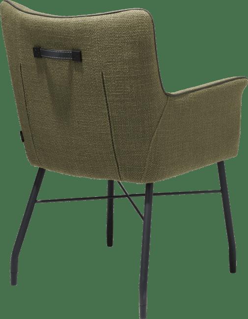 Henders & Hazel - Chiara - Modern - armlehnstuhl + taschenfedern mit handgriff in catania leder schwarz - stoff vito
