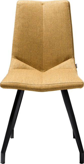 XOOON - Ally - Scandinavian design - chair - 4 legs black - lavinia mustard / rust