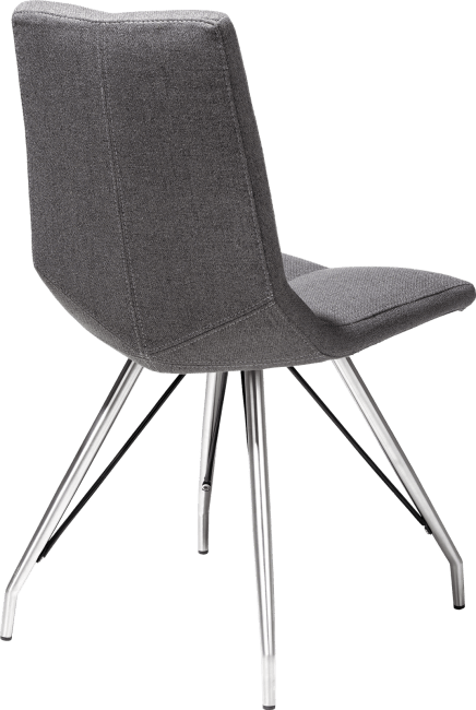 XOOON - Ally - Scandinavian design - chair - rvs - spider frame - lavinia anthracite