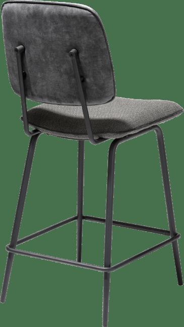 XOOON - Novali - Design minimaliste - chaise de bar - cadre off black - dossier en tissu karese & siege en tissu vito