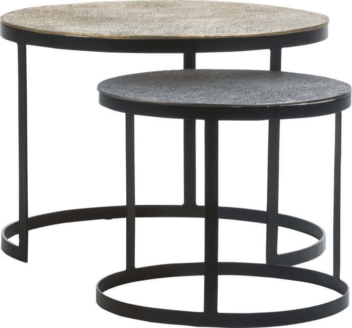 XOOON - Coco Maison - magali set of 2 coffee tables h41-35cm