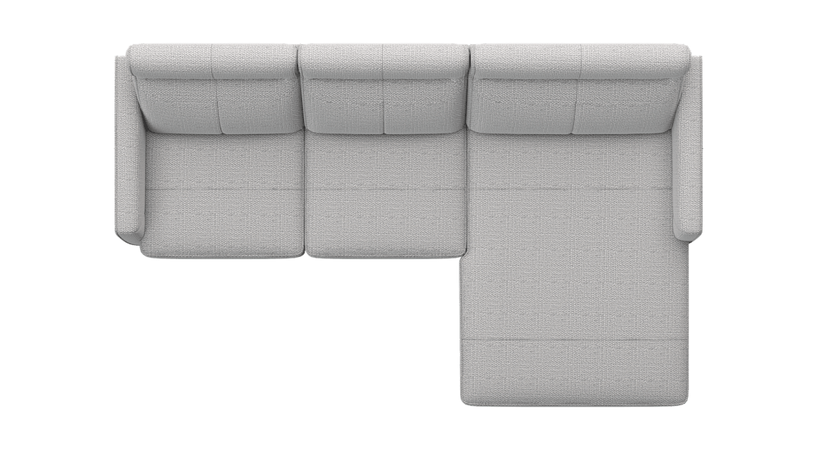 XOOON - Barcelona - Sofas - 3 Sitzer Armlehne links - Longchair rechts