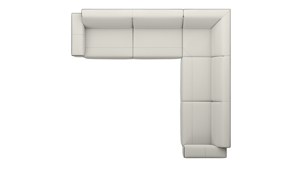 XOOON - Prakan - Sofas - 3,5 seater arm left - corner part - 3 seater arm right