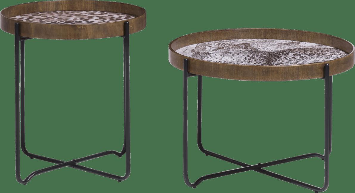 XOOON - Coco Maison - leopard set of 2 side tables h50-40cm