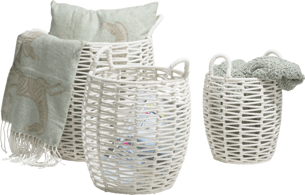 XOOON - Coco Maison - lina set of 3 baskets h42-37-30cm