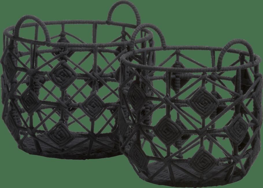 XOOON - Coco Maison - mila set of 2 baskets h32-30cm