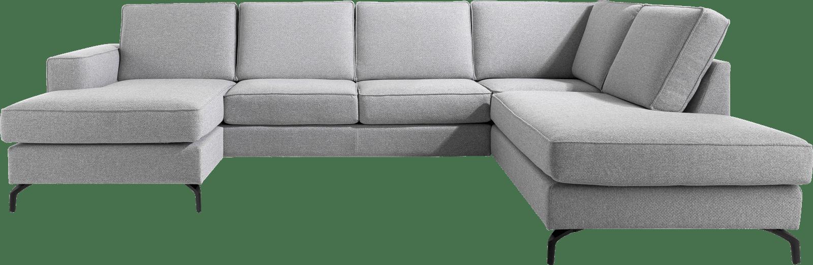 XOOON - Varna - Salons - longchair + 3-zits + ottomane rechts