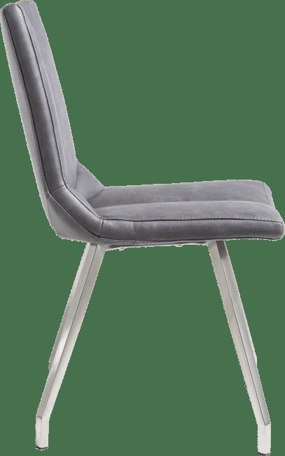 XOOON - Artella - design Scandinave - chaise - inox 4-pieds - pala anthracite