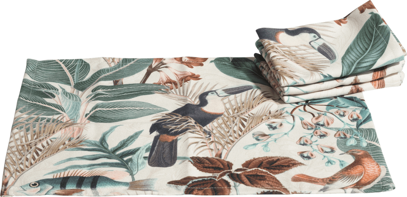 Happy@Home - Coco Maison - summer jungle set van 4 placemats