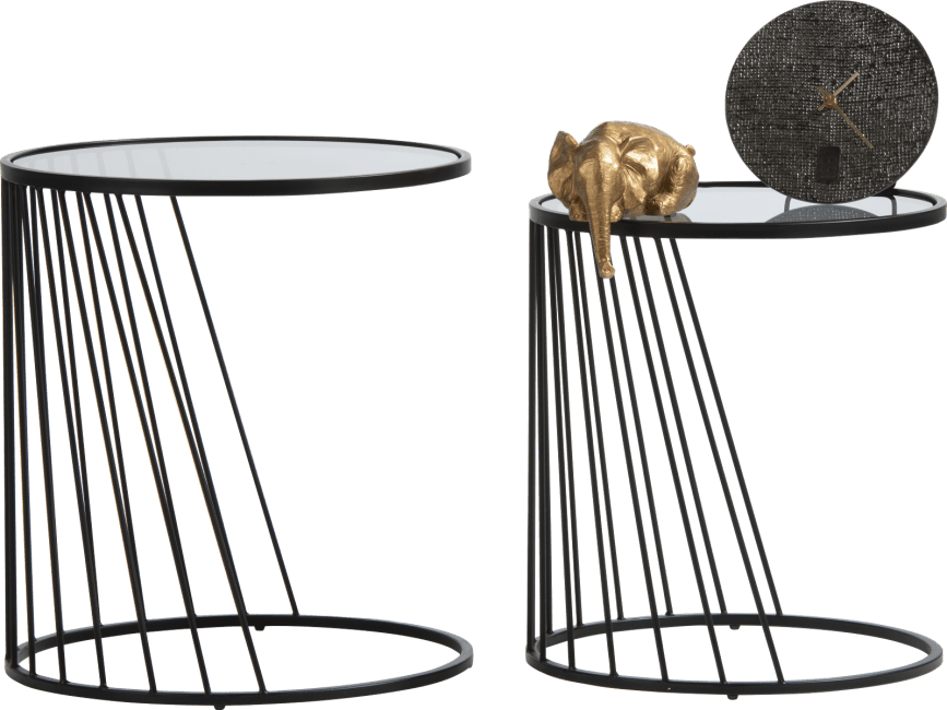 XOOON - Coco Maison - ray set of 2 side tables h50-45cm