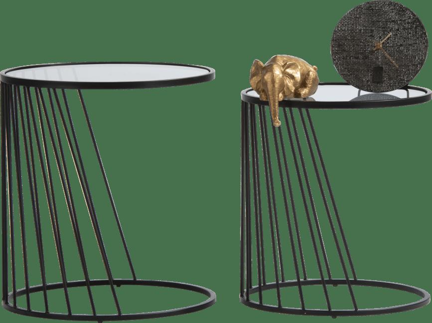 Happy@Home - Coco Maison - ray set van 2 bijzettafels h50-45cm