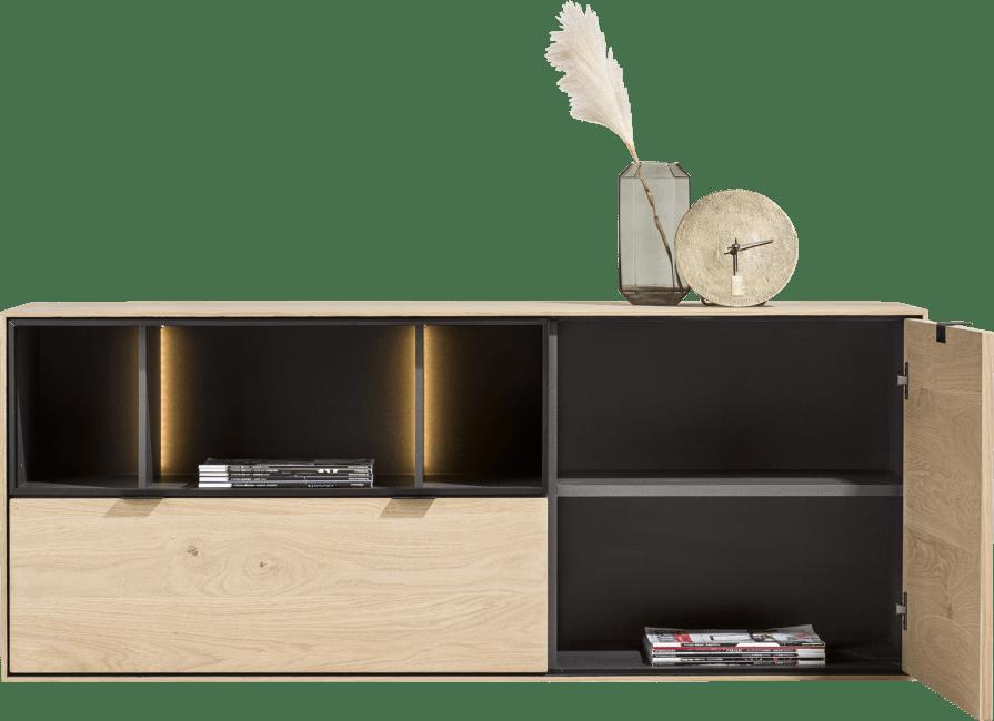 XOOON - Elements - Minimalistisches Design - sideboard 150 cm. - 1-tuer + 1-lade + 3-nischen + led